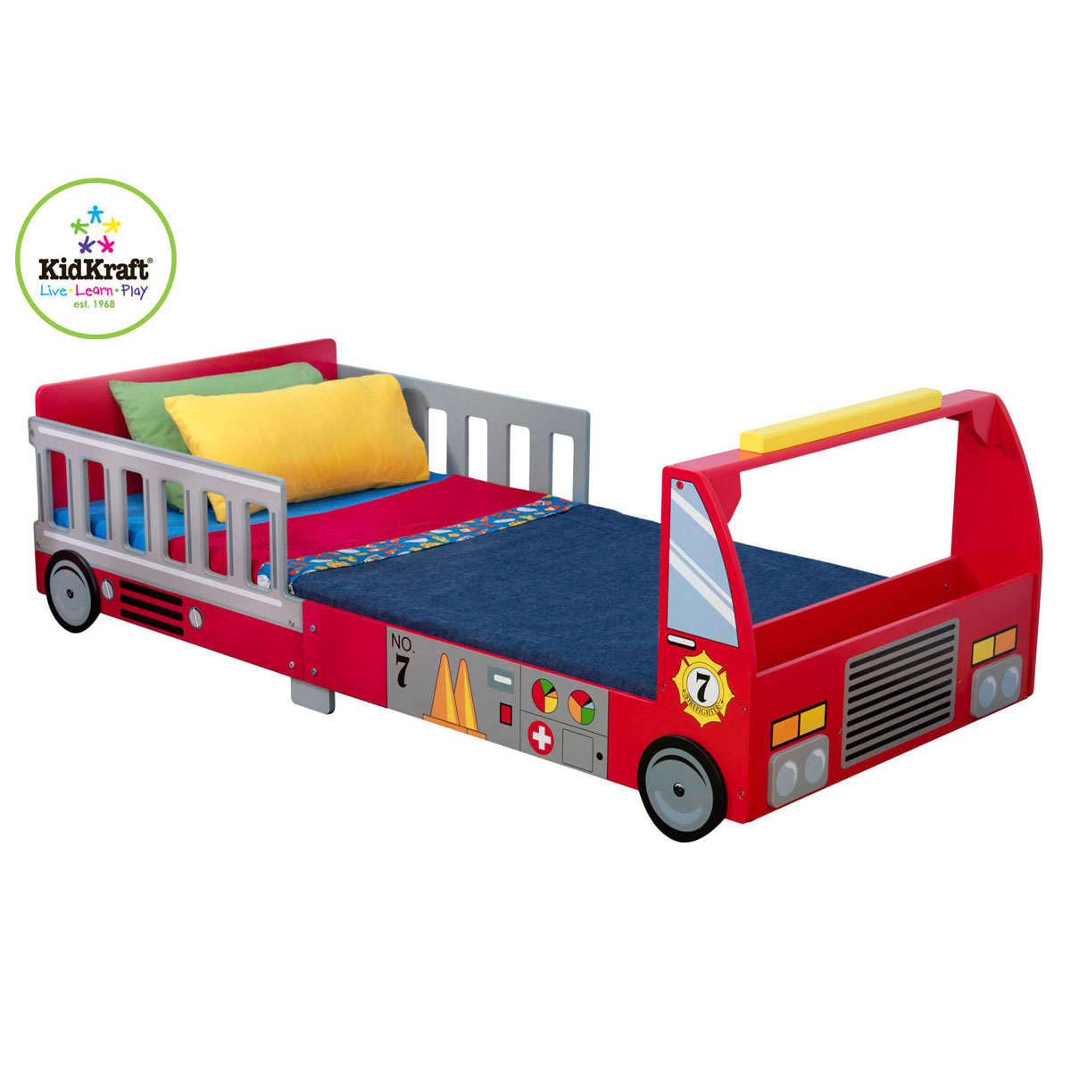 kidkraft 76031 kinderbett feuerwehr solides feuerwehr kinderbett. Black Bedroom Furniture Sets. Home Design Ideas