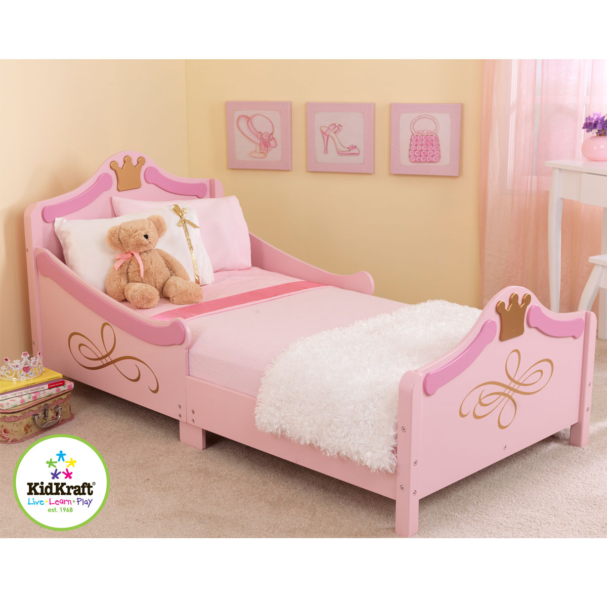 kidkraft kinderbett prinzessin 76139 solides holz kinderbett. Black Bedroom Furniture Sets. Home Design Ideas