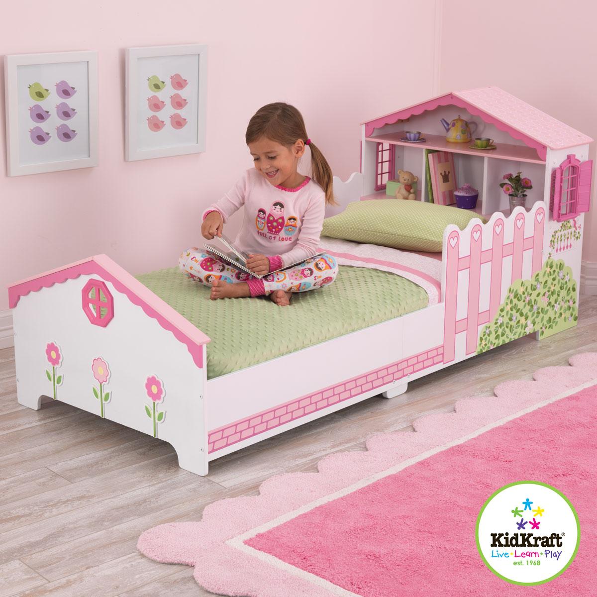kidkraft dollhouse toddler bed 76255. Black Bedroom Furniture Sets. Home Design Ideas