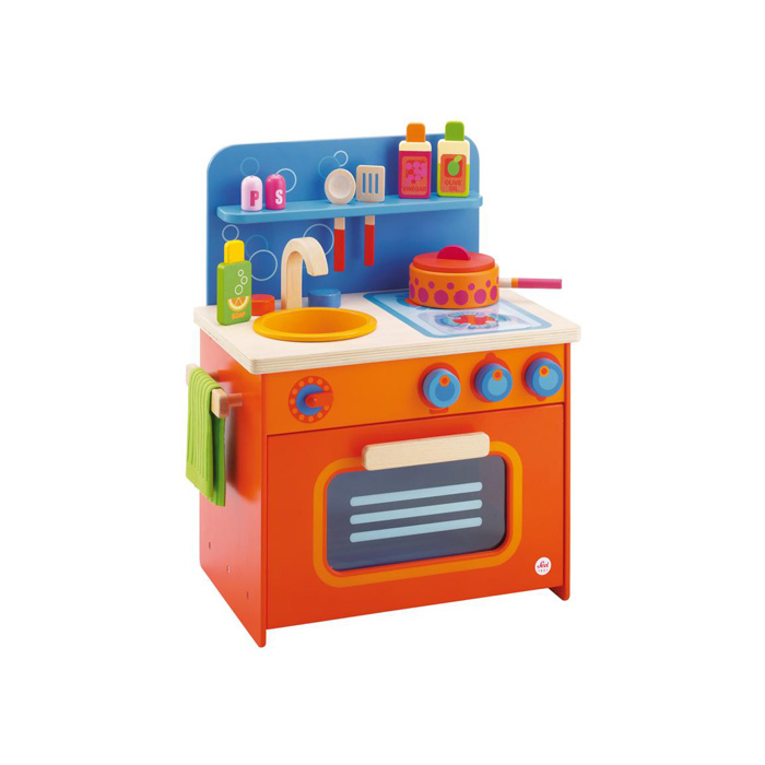 sevi cucina per bambini con accessori giocattoli di legno pirum - Cucina Per Bambini Chicco
