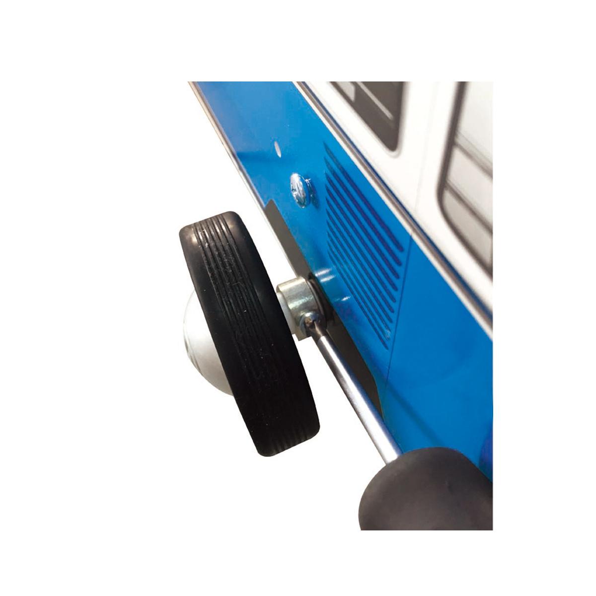 Hape E0381 Lauflernwagen Bulli in blau Holzspielzeug