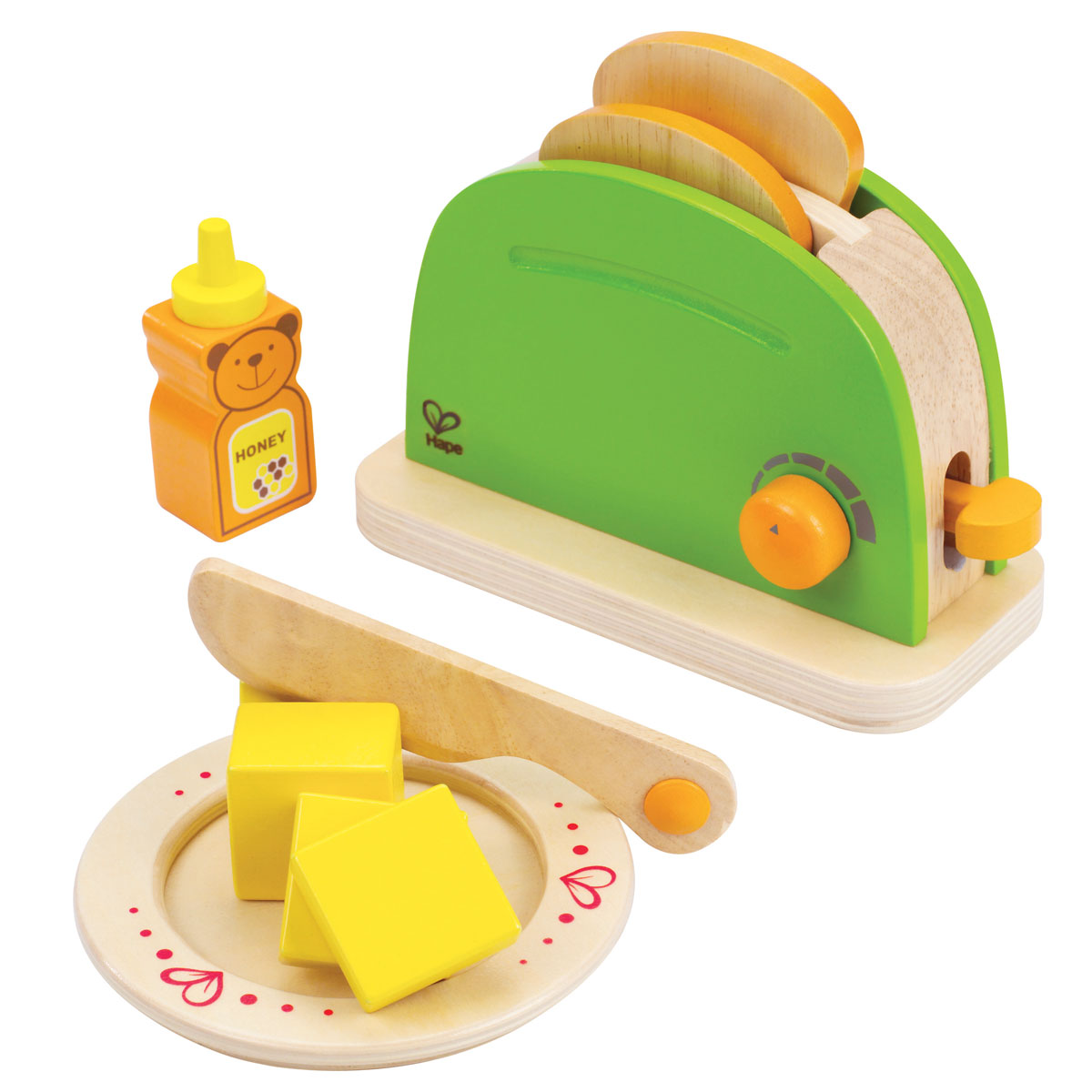 hape pop up toaster e3105 für spielküche