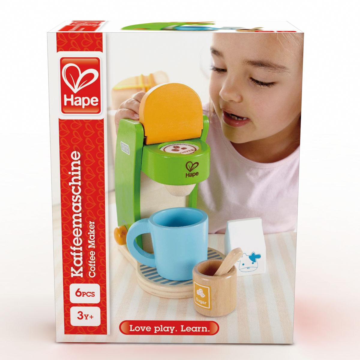 hape kaffeemaschine e3106 für die spielküche | pirum-holzspielzeuge