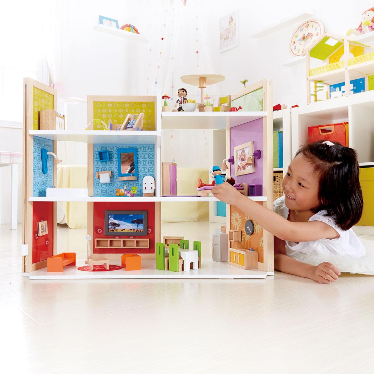 Hape casa dei sogni fai da te e3403 giocattoli di legno for Planimetrie delle case dei sogni dei kentucky