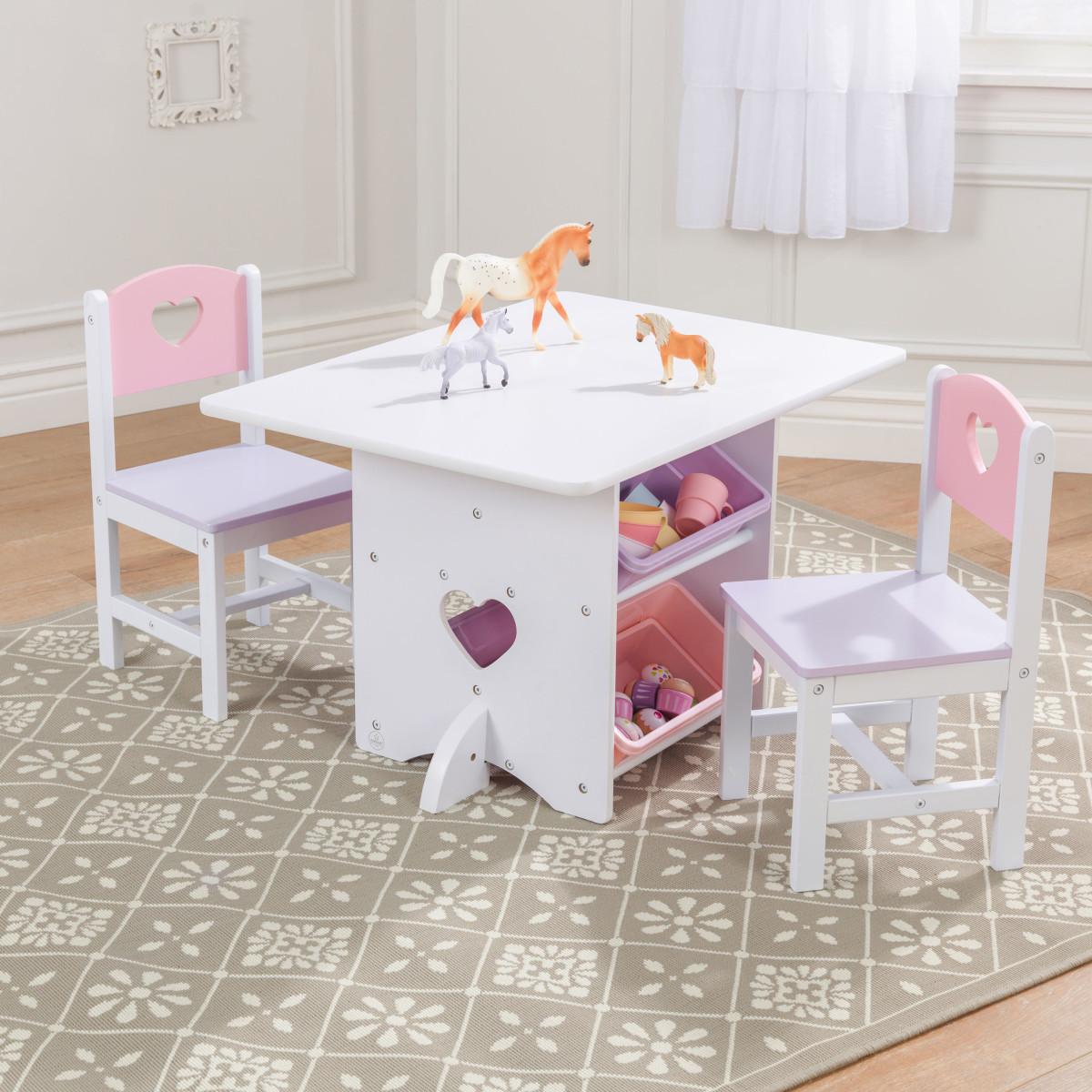 KidKraft Ensemble Table Et Chaises Avec Motif Coeur 26913