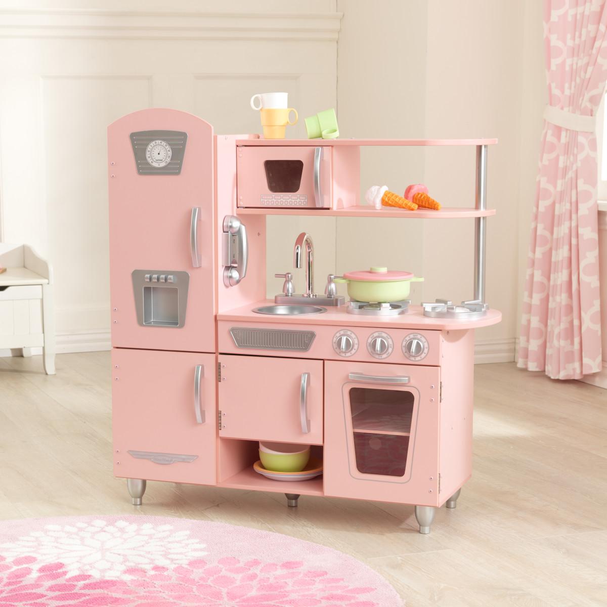 Kidkraft Różowa Kuchnia W Stylu Retro 53179