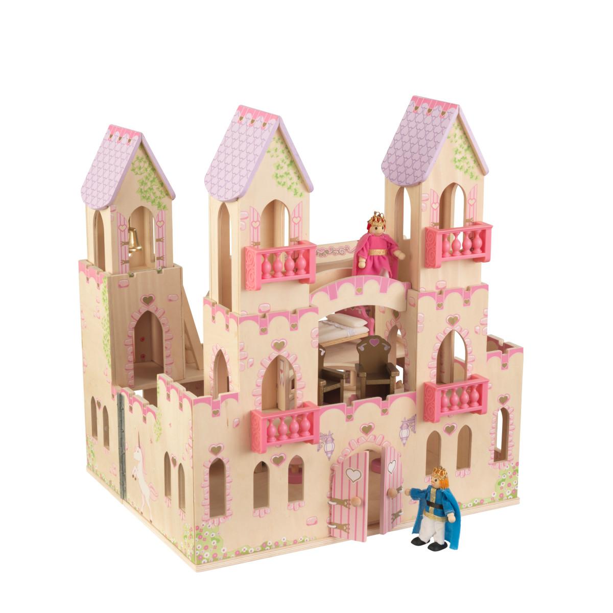 Geburtstag Bastel Set aus Holz Prinzessin Burg Schloss Kreativ Set für Kinder