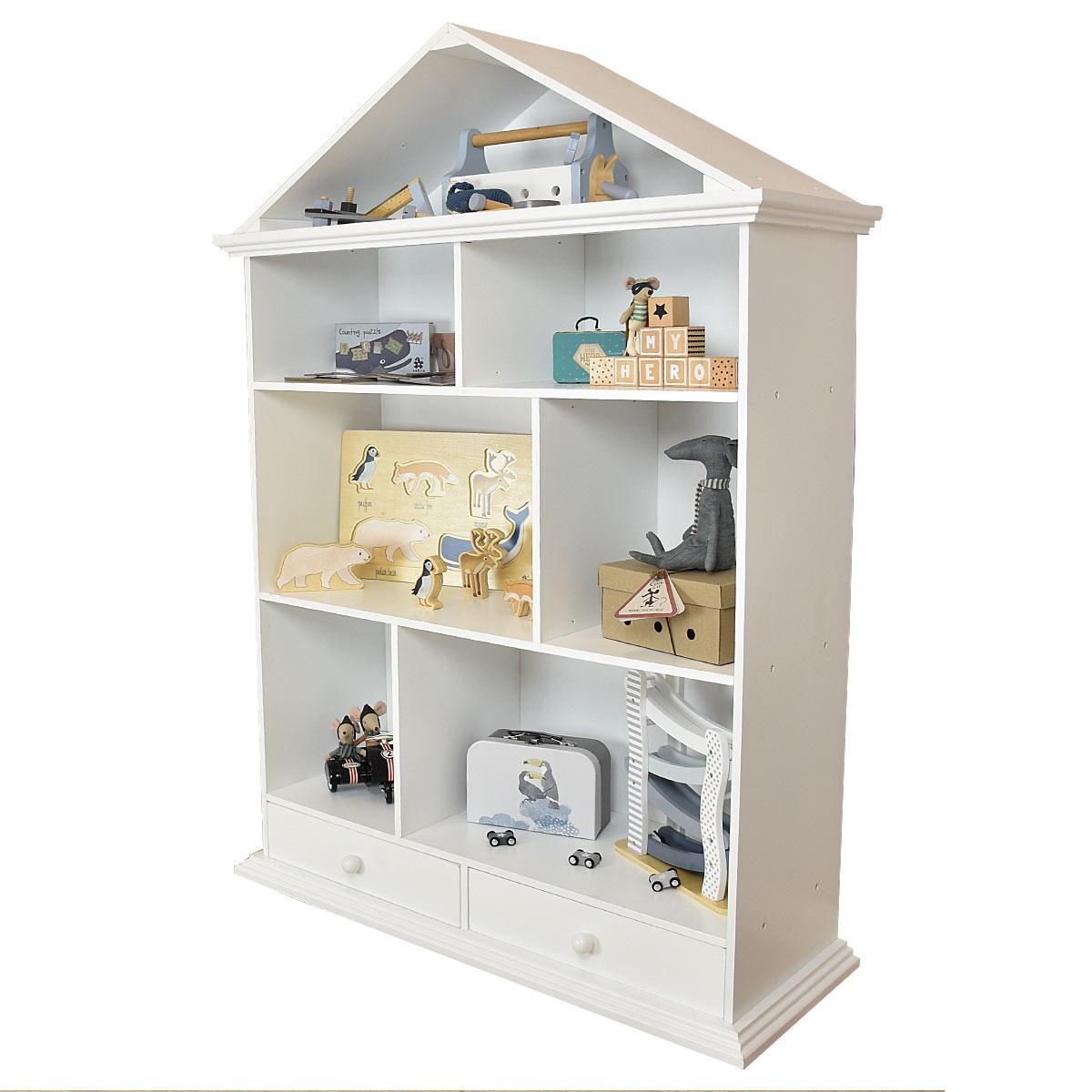 Meppi la casa delle bambole scaffale in legno dal design for Casa bambole ikea