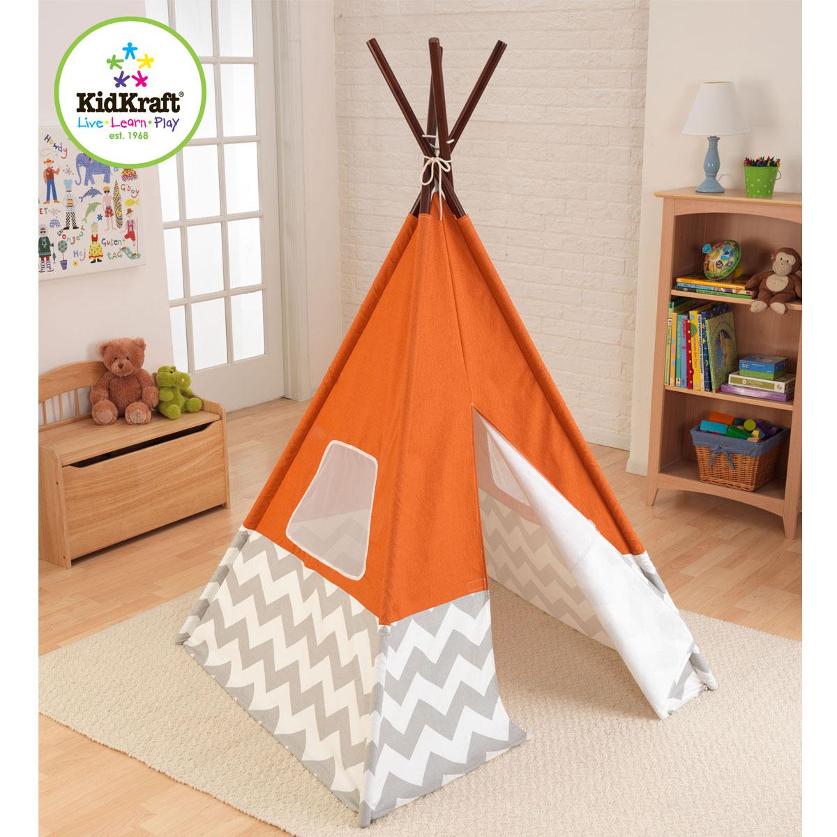 KidKraft Namiot dla dzieci / Tipi 00213 pomarańczowy | Pirum