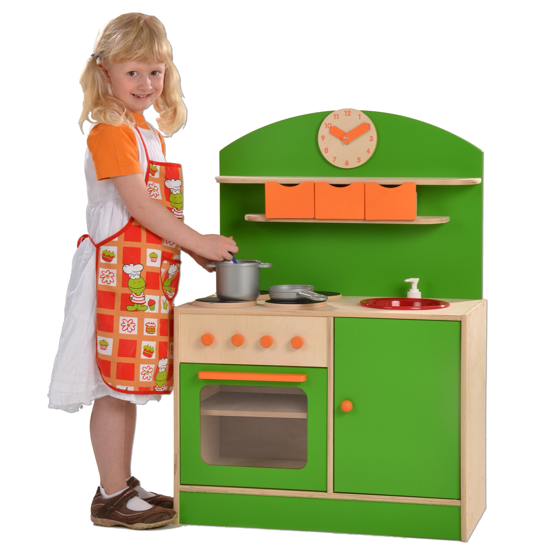 Plaho cucina verde/arancio giocattoli di legno