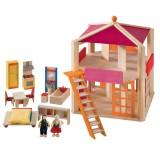 Selecta Puppenhaus Casa Rosa aus Holz