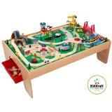 KidKraft Eisenbahnset und Spielplatte mit Bergteil