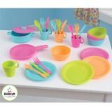 Kidkraft Geschirr- und Kochset in hellen Farben