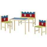 kindersitzgruppe kindertisch und st hle aus holz. Black Bedroom Furniture Sets. Home Design Ideas