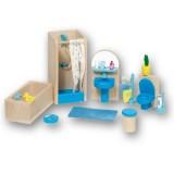 Goki Puppenhausmöbel Bad blau
