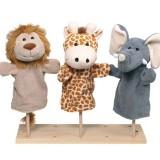Goki Handpuppe Set Wilde Tiere