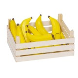 Goki Kaufladenzubehör Bananen in Obstkiste
