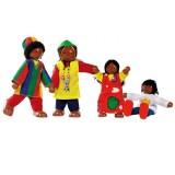 Goki Wyginające się lalki — Afrykańska rodzina