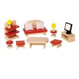 Goki Puppenhausmöbel Wohnzimmer Basic