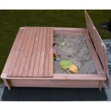 PROMADINO Sandkasten Tessa mit Abdeckung