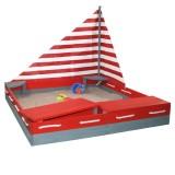 Sun Sandkasten Seefahrer, rot-grau