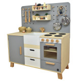 Meppi Copenhagen Wooden Pretend Play Toy Kitchen - grey
