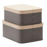 Kids Concept Aufbewahrungsboxe eckig grau 2er-Set