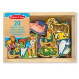Melissa & Doug 20 magneti di legno a forma di animali