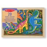 Melissa & Doug 20 magneti di legno a forma di dinosauri