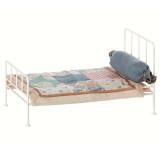 Maileg Puppenhausmöbel Metall-Bett mini weiss