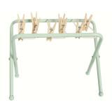 Maileg Puppenhausmöbel Wäscheständer aus Metall mit Klammern