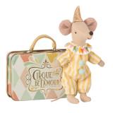 Maileg Clown Maus im Koffer , mehrfarbig, Streifen