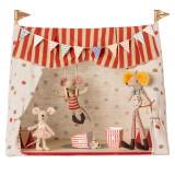 Maileg Zirkuszelt inklusive 3 Zirkusmäusen, rot