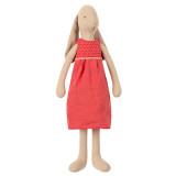 Maileg Häschen Größe 3 mit rotem Kleid