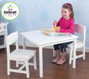 KidKraft Aspen Tisch mit 2 Stühle weiß - AUS RETOURE (2)