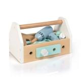 MUSTERKIND Werkzeugkiste - FAGUS weiß/blau/mint