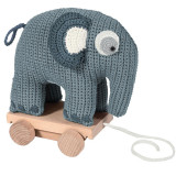 Sebra Häkel-Nachziehtier, Elefant, wolkenblau