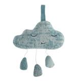 Sebra Mobile Strick Mobile Spieluhr, Wolken, wolkenblau