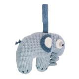 Sebra Häkel-Spieluhr, Elefant wolkenblau