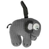 Sebra Häkel-Spieluhr, Elefant grau