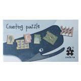 Sebra Puzzle mit Zahlen, Dino / Arctic animals