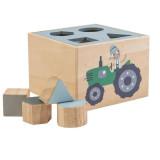 Sebra Formensteckspiel aus Holz, Farm & Junge