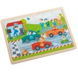 Haba Houten puzzel Snelle sportwagens