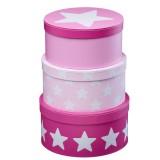 Kids Concept Pappboxen-Set, rosa