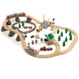 BRIO Bahn Großes Landschafts-Set, Jubiläumsbox, 75 Teile