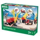 BRIO Straßen und Schienen Kran Set