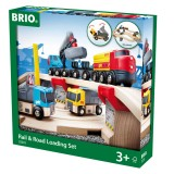 BRIO Straßen & Schienen Steinverlade Set