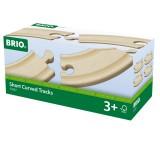 BRIO Petits rails courbes - 90 mm