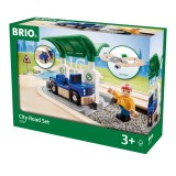 BRIO Straßen Set mit Kreisverkehr