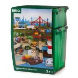 BRIO Großes Premium Set in Kunststoffboxen